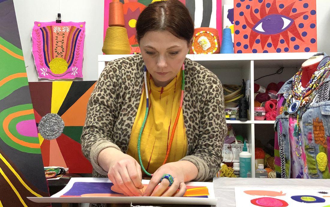 Liz Payne in studio cropped for web