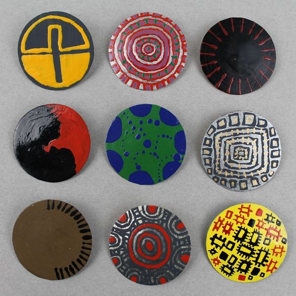Lisa Waup bottle top brooches