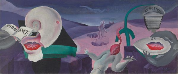 Dušan Marek, Australia, 1926 - 1993, Analysis of substance, 1952, Kings Cross, Sydney, oil on canvas, 36.5 x 88.2 cm; Purchased with the assistance of James Agapitos OAM and Ray Wilson OAM 2007 National Gallery of Australia, Art Gallery of South Australia, Adelaide, © Art Gallery of New South Wales.