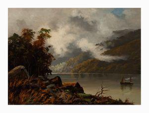 Image of Scene on the Huon River, Tasmania,