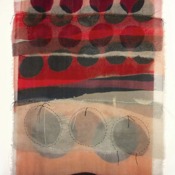Barbara Rodgers, Composition in Red, 2017
