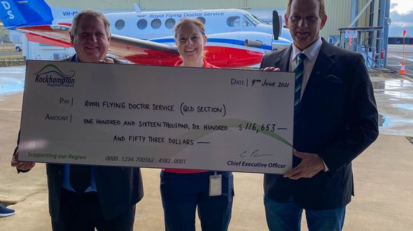 Rockhampton Airport donates to the Flying Doctor