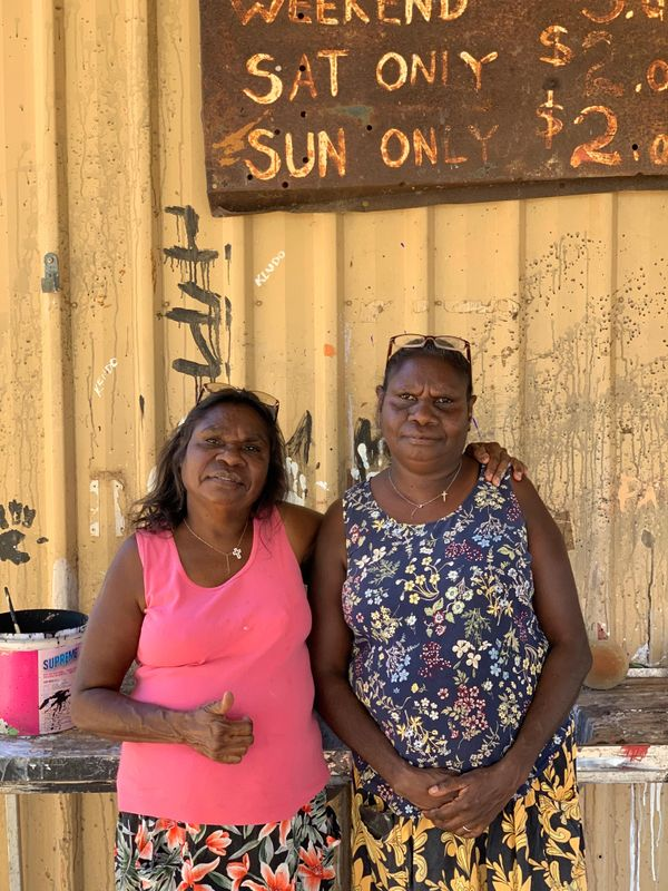 Tracey and Kathy Ramsay, Warmun, Western Australia