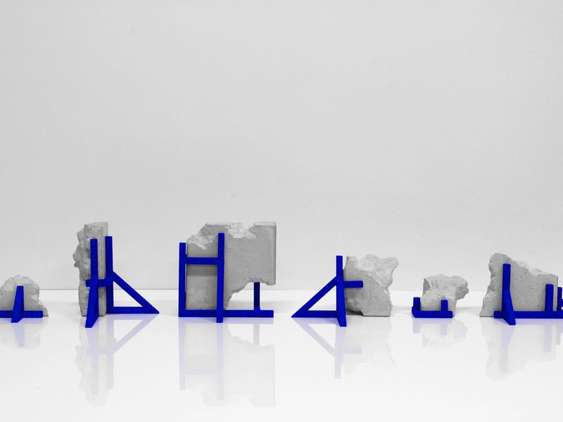 Image: Tom Borgas, Concrete Topology, (12 maquettes) Photo: Tom Borgas