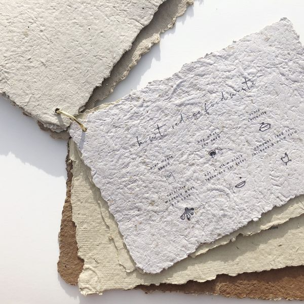 Matilda Roberts, Life After Waste, Homemade paper embossed 2018