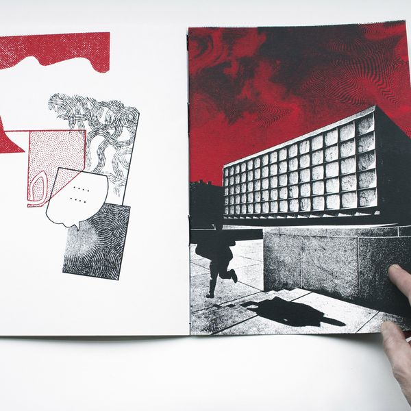 Jo Jarosinska, Echo Room artist's book detail, 2018, screen print on paper, photo courtesy of the artist.
