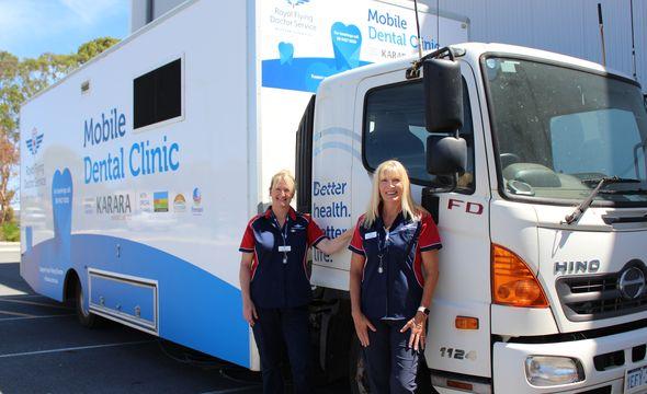 The WA mobile dental van