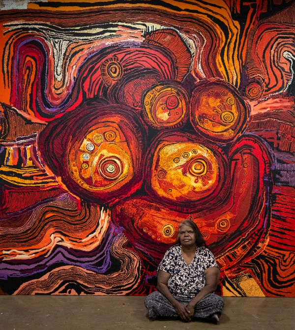 Nyunmiti Burton with Kungkarangkalpa – Seven Sisters, 2020, Adelaide