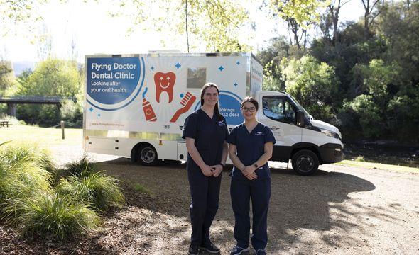 Dental truck and team in Mitta Mitta