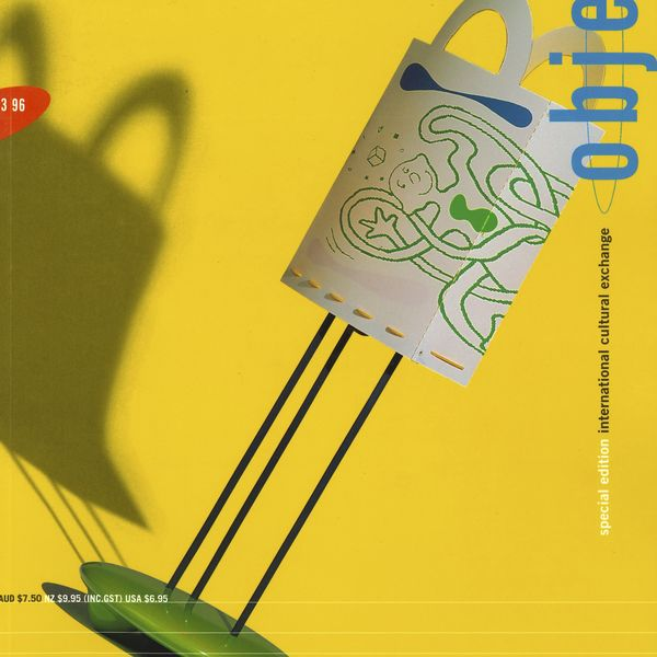 The cover page of Object Magazine Issue 3.96, showing a playful lamp placed against a yellow background