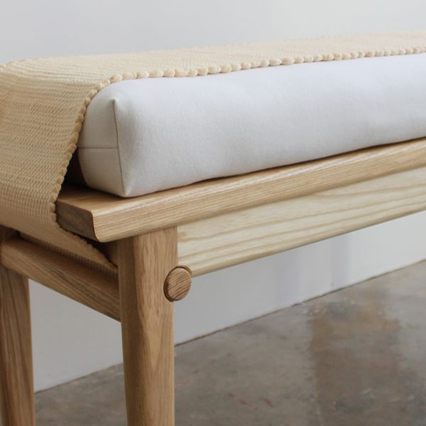 Ivana Taylor Marci Bench, detail, 2020