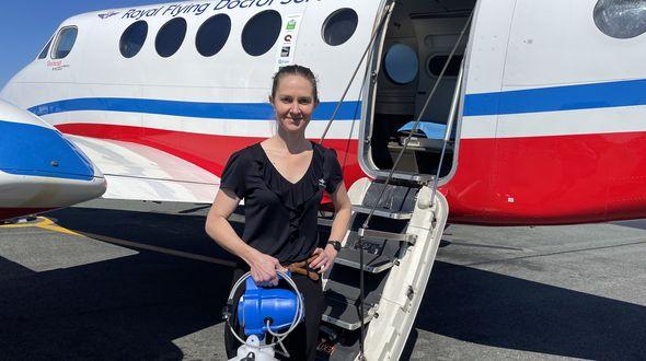 disinfecting medical aircraft