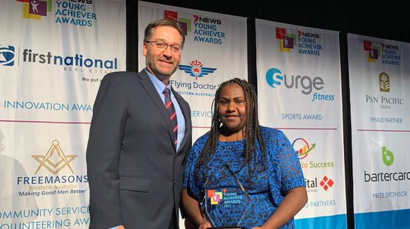 Wiluna local and young Martu woman wins for community
