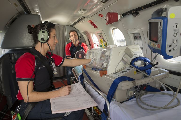 RFDS Adelaide Crew inside Aircraft