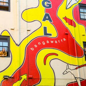 Gadigal Mural with Jason Wing, Lucy Simpson and Dennis Golding